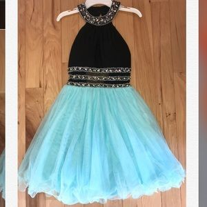 Blonde Nites Black and Blue Dress